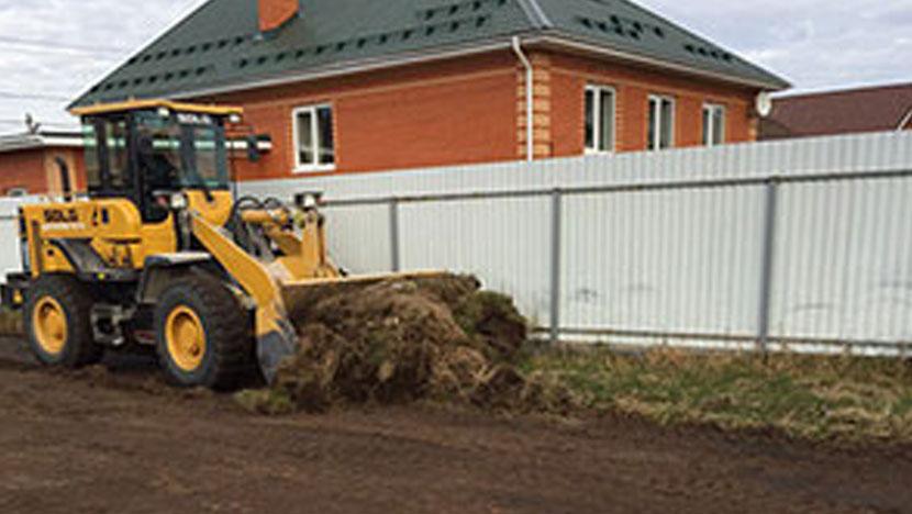 Выравнивание участка под строительство в поселке Пригородный