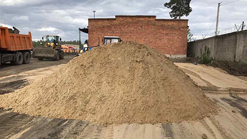 Доставка песка в пос. Приозерье