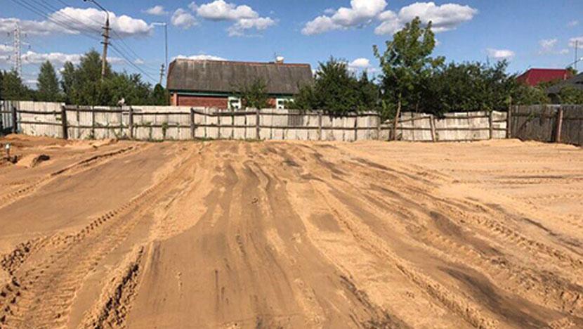 Доставка песка и выравнивание участка в Орехово-Зуево