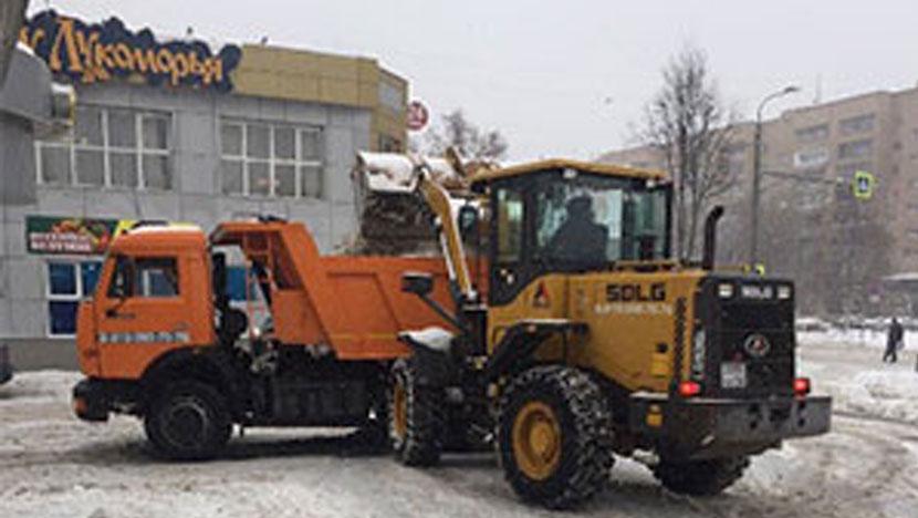 Уборка и вывоз снега для ресторана «У Лукоморья»