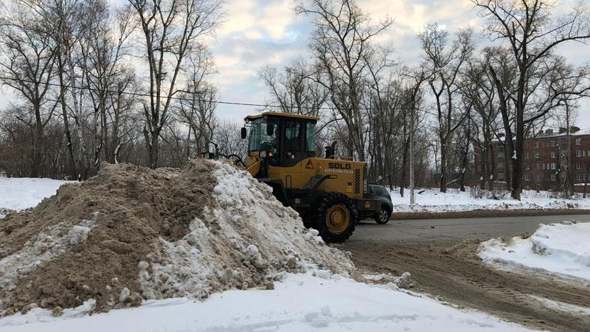 Уборка снега с дорог