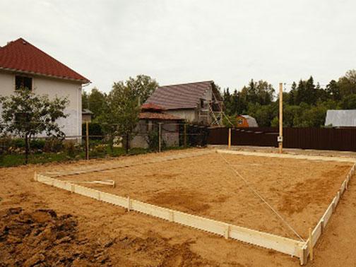 Подушка из песка под фундамент: особенности применения