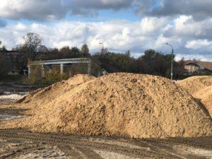 Доставка и планировка песка в парке г Орехово-Зуево